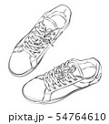 Sketch of the sneakers isolated on white. 54764610