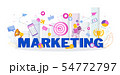 Marketing strategy. Trendy flat vector style typography 54772797