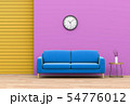 interior pastel living room with sofa. 3D render 54776012