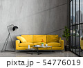 interior living room wall concrete with sofa 54776019