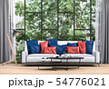 Interior living room and tree landscape. 54776021