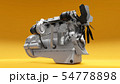 A big diesel engine with the truck depicted. 3d rendering. 54778898