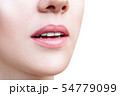 Perfect natural lips of young woman. 54779099
