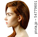 Side view on young redhead woman with serious look 54779601