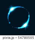 リング 輪 金環 輝く環 環 ネオン 空想空間 抽象 54780505