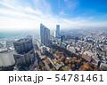 【新宿】・都内眺望・都庁展望室南より・朝靄 54781461