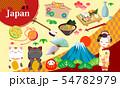 日本スタイルのアイコンセット 54782979