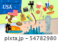 アメリカスタイルのアイコンセット 54782980