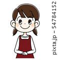正面をむく女の子 54784152