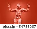 Fashion Muscular DJ. Music nightclub party concept 54786067