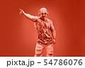 Fashion Muscular DJ. Music nightclub party concept 54786076