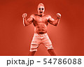 Excited Muscular strong athletic man naked torso 54786088