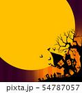 背景-ハロウィン-月-グラデーション 54787057