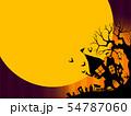 背景-ハロウィン-月-グラデーション 54787060