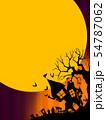 背景-ハロウィン-月-グラデーション 54787062