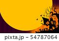 背景-ハロウィン-月-グラデーション 54787064