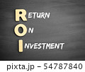 Wooden alphabets building the word ROI 54787840