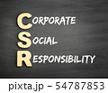Wooden alphabets building the word CSR 54787853