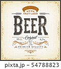 Vintage Beer Label For Bottle 54788823