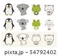 ペンギン コアラ カエル ネコ 54792402