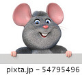 3d illustration funny mouse with poster 54795496