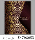 Wedding invitation card with gold shiny eastern 54798053