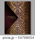 Wedding invitation card with gold shiny eastern 54798054