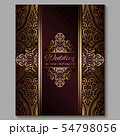 Wedding invitation card with gold shiny eastern 54798056
