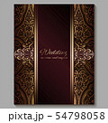 Wedding invitation card with gold shiny eastern 54798058