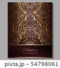 Wedding invitation card with gold shiny eastern 54798061