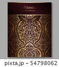 Wedding invitation card with gold shiny eastern 54798062