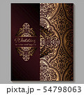 Wedding invitation card with gold shiny eastern 54798063
