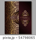 Wedding invitation card with gold shiny eastern 54798065