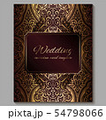 Wedding invitation card with gold shiny eastern 54798066