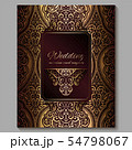 Wedding invitation card with gold shiny eastern 54798067