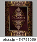 Wedding invitation card with gold shiny eastern 54798069