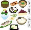 イラスト素材: イラスト素材: 京都 名産品 グルメ アイコンセット 54805148