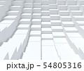 ボックス立方体 白 グレー 54805316