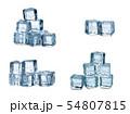ice cubes on white background 54807815