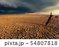thunder storm sky Rain clouds Cracked dry land 54807818