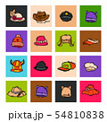 Different holiday carnaval hat fashion accessory party celebration for masquerad clothing vector 54810838
