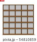 Empty rack with shelves or bookshelf 54810859