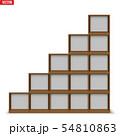 Empty rack with shelves or bookshelf 54810863