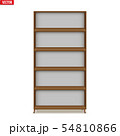 Empty rack with shelves or bookshelf 54810866