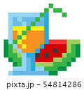 Watermelon Cocktail Pixel 8 Bit Video Art Icon 54814286