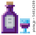 Wine Bottle Glass 8 Bit Video Game Art Icon 54814289