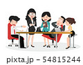 Set of business characters working in office 54815244
