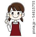 指を立てる女の子 54815755