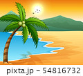 Beautiful seascape seaside with mountain 54816732