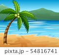 Beautiful seascape seaside with mountain 54816741